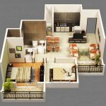 12 Mẫu thiết kế chung cư 50m2 2 phòng ngủ vừa rộng vừa đẹp