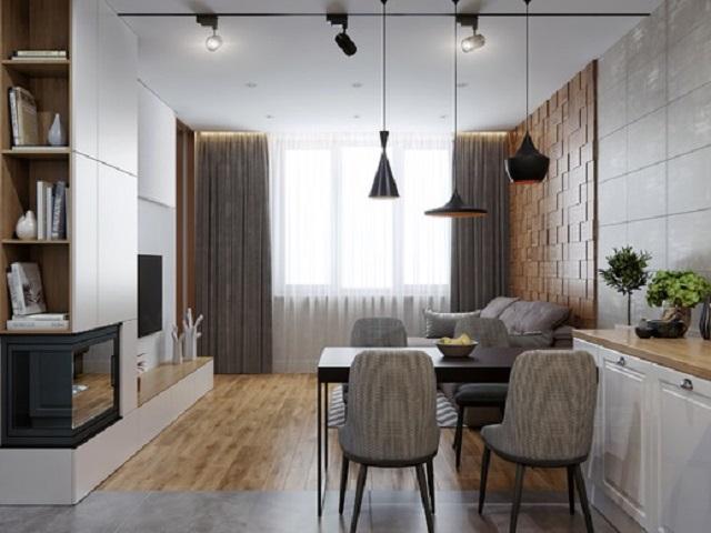 Phòng khách có diện tích nhỏ nhưng vẫn đảm bảo thoáng đãng, yên tĩnh