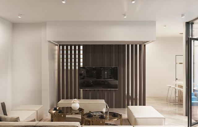 Phong cách tối giản, đồng màu mang lại sự tinh tế và nhẹ nhàng.