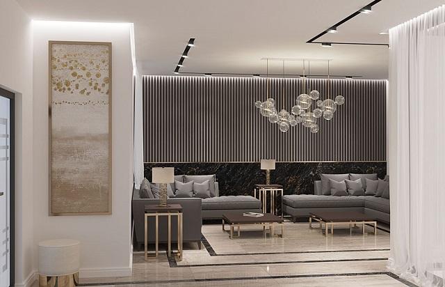 Thêm một chút trang trí nghệ thuật cùng đèn LED gắn tường sẽ làm không gian thêm đẹp mắt.