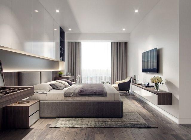 Phòng ngủ với nội thất sang trọng, kết hợp với màu sơn hài hòa