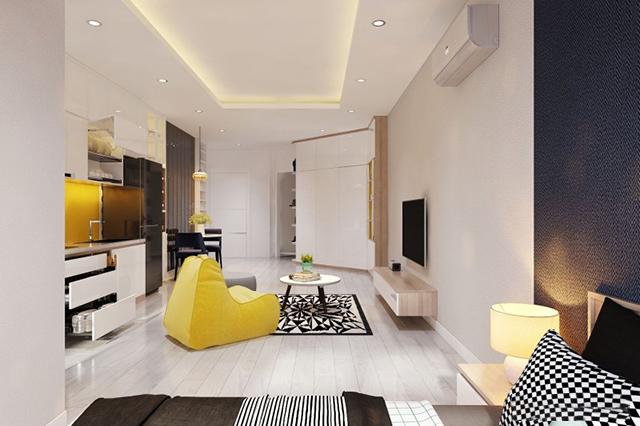 thiết kế nội thất chung cư 45m2 1