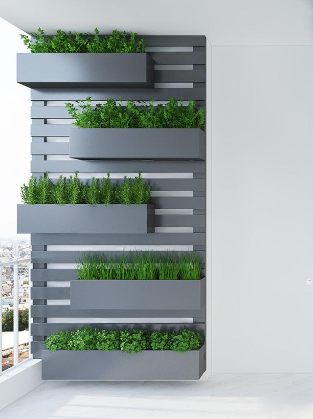 thiết kế nội thất khu vực ban công