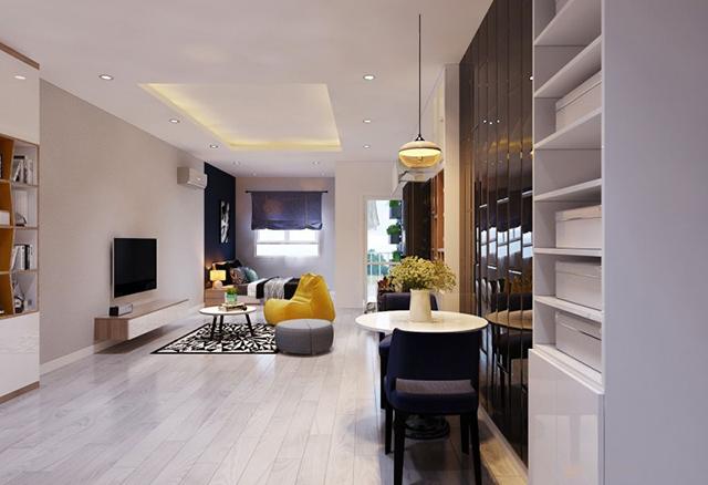 thiết kế nội thất chung cư 45m2 2