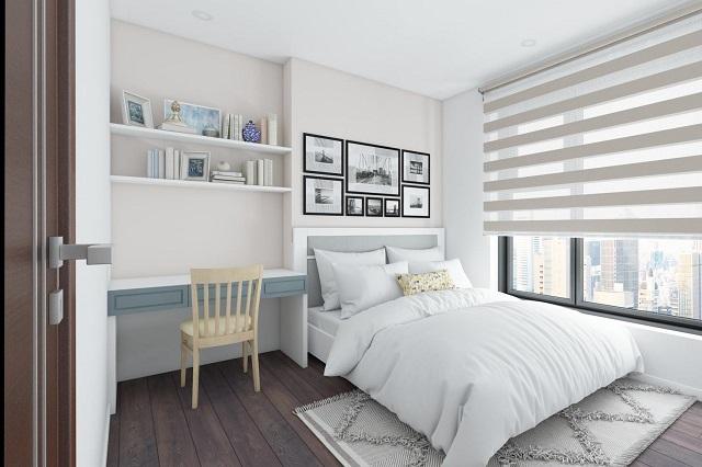 Phòng ngủ cần đơn giản hóa nhưng vẫn sắp xếp đảm bảo tính tiện nghi, hiện đại