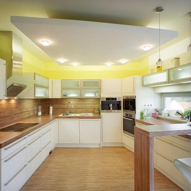 Trần thạch cao phòng bếp có nhiều kiểu dáng và chủng loại khác nhau