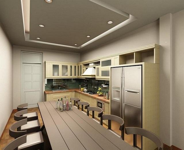 Trần thạch cao chung cư phòng bếp dạng nổi