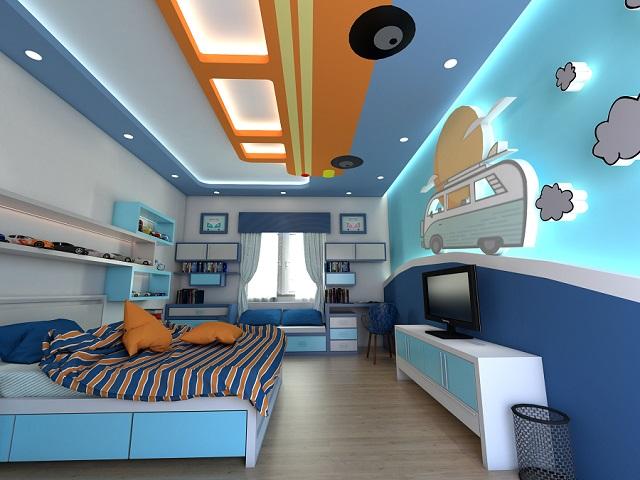 Trần thạch cao phòng ngủ phù hợp với đối tượng người ở là trẻ em
