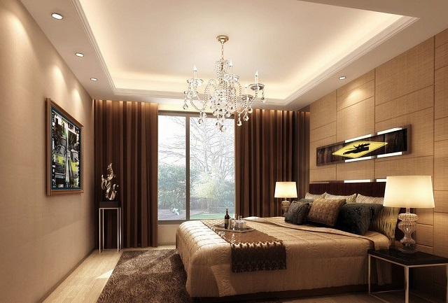 Trần thạch cao phòng ngủ dạng nổi tạo sự sang trọng, đẳng cấp cho không gian