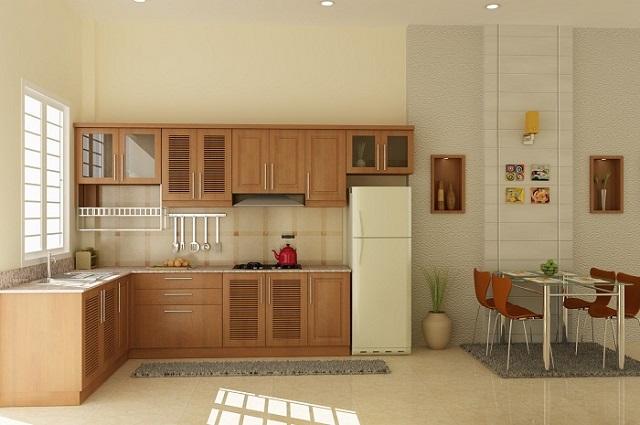 Với số tiền mua tủ bếp khiêm tốn, bạn có thể tham khảo mẫu tủ này
