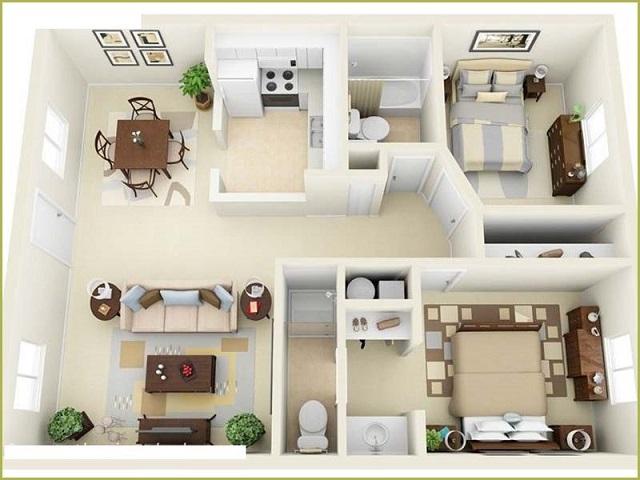 Cách bố trí vị trí các phòng trong nhà ra sao?