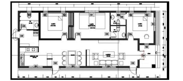 Bố trí các phòng trong nhà ống 1 tầng