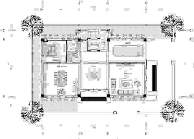 Bản vẽ thiết kế tầng 1