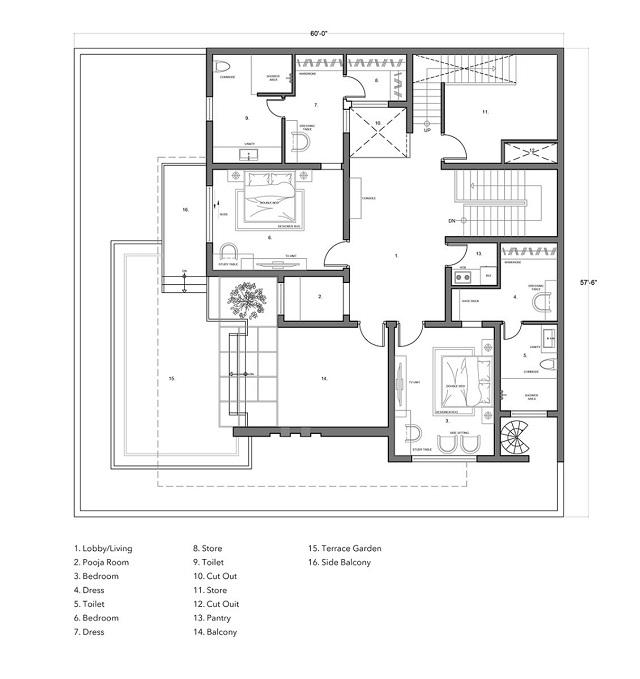 Bản vẽ thiết kế biệt thự tầng 2