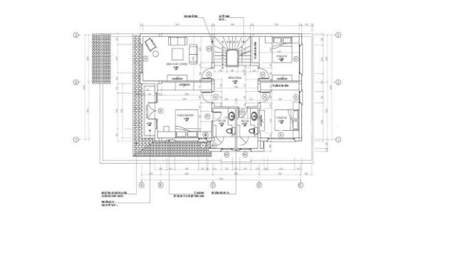 Bản vẽ thiết kế biệt thự tân cổ điển tầng 2