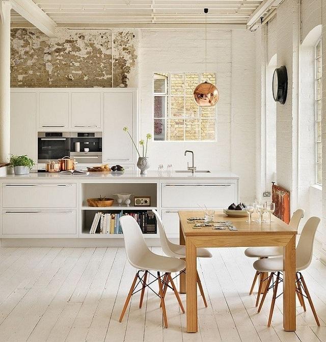 Phòng ăn nhìn giản dị nhưng rất ấm cúng