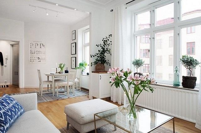 Phòng khách với sàn gỗ hiện đại