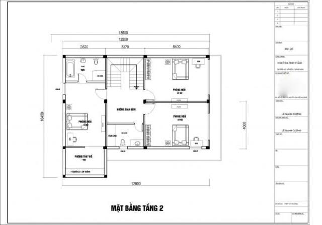 Thiết kế biệt thự 3 tầng đẹp tại Hải Phòng