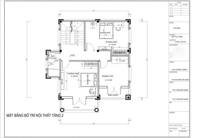 Thiết kế biệt thự 4 tầng chuyên nghiệp tại Hải Phòng
