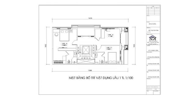 Bản vẽ thiết kế tầng 2 (Lầu 1)