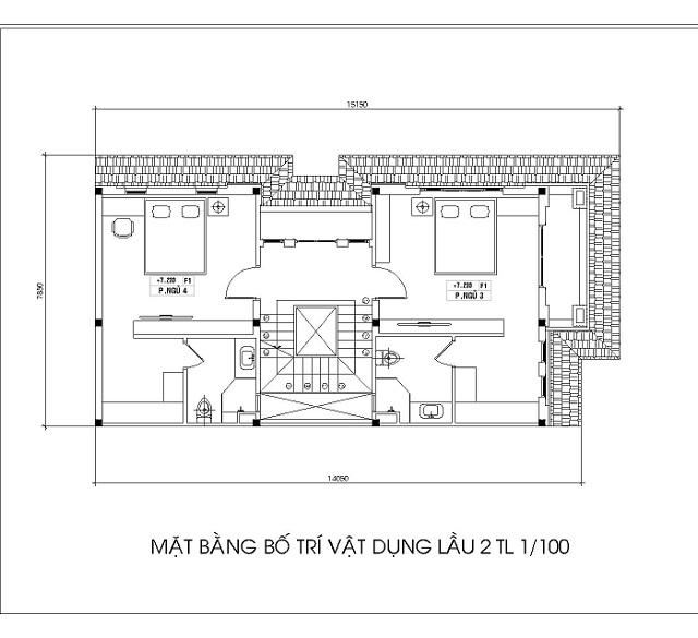 Bản vẽ tầng 3 của nhà