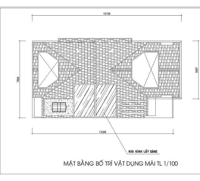 Bản vẽ thiết kế tầng mái