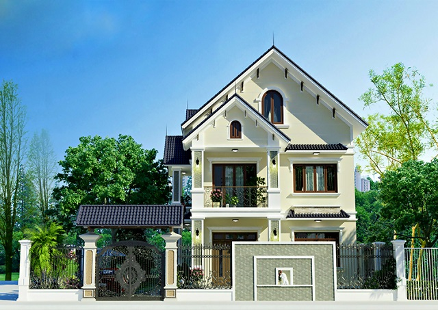 Hình 11: Biệt thự vườn có thiết kế ngoại thất sang trọng