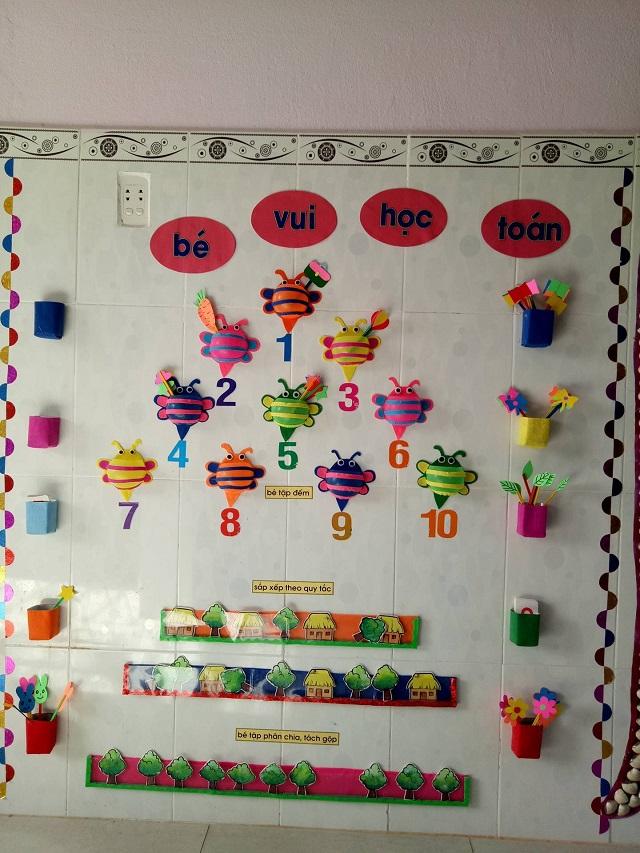 Trang trí lớp bắt mắt kết hợp với giảng dạy tính toán