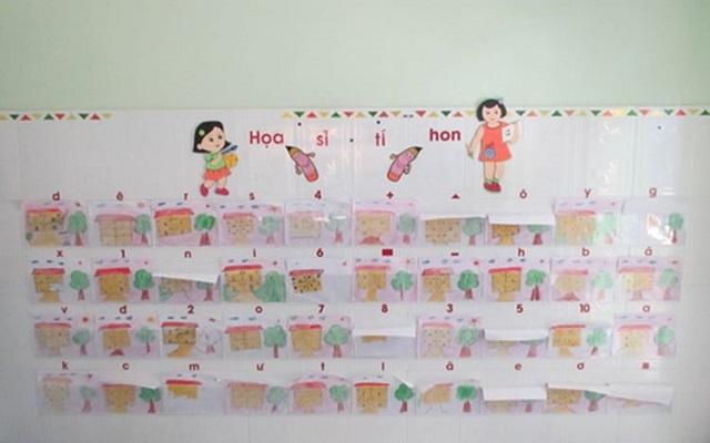 Có thể trang trí lớp học bằng chính bài vẽ của các bé