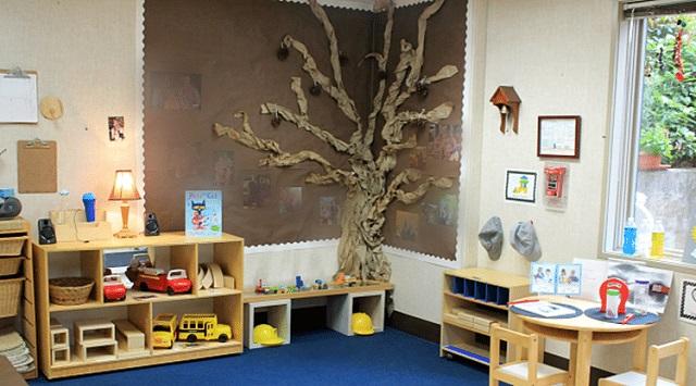 Tạo hình cây trong góc lớp bằng giấy