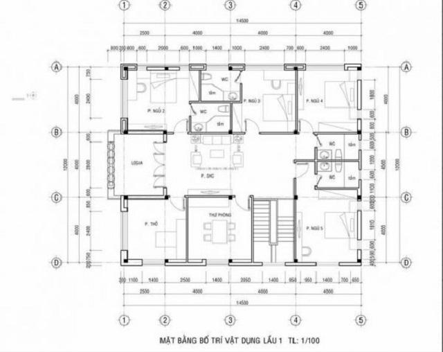 Hình 10: Thiết kế mặt bằng tầng 2