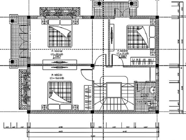 Hình 15: Thiết kế tầng 2 biệt thự vườn