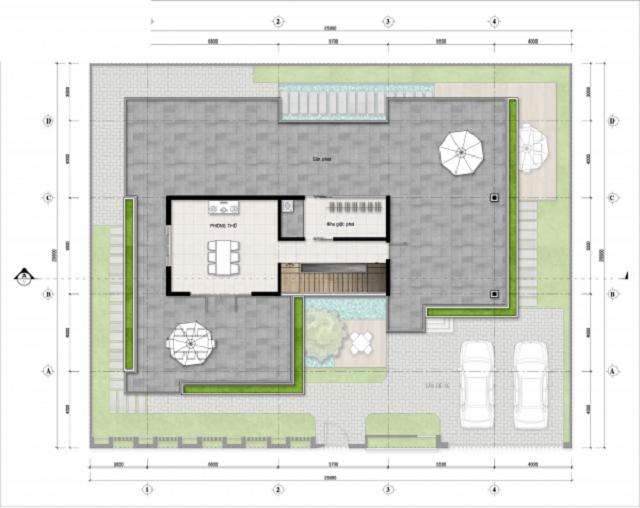Hình 20: Thiết kế tầng 3 biệt thự hiện đại