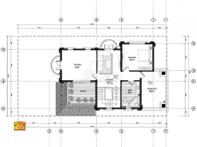 Hình 28: Thiết kế tầng 2 biệt thự tân cổ điển