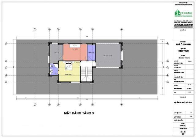 Thiết kế mặt bằng tầng 3 biệt thự cổ điển