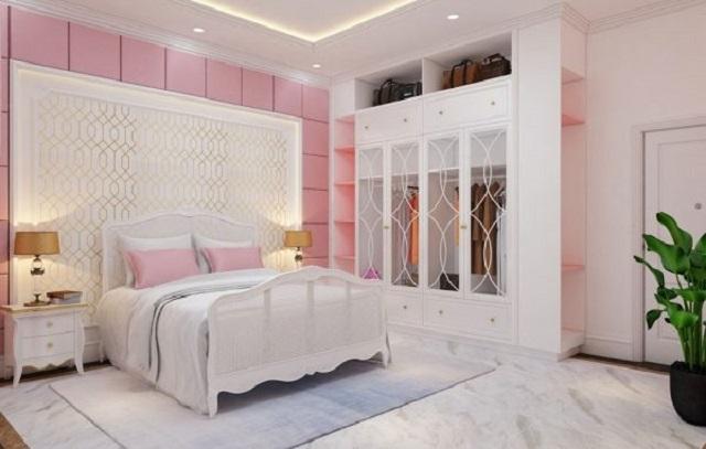 Phòng ngủ tông màu Pastel nhẹ nhàng, nữ tính