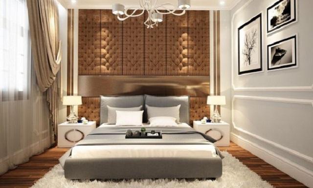 Thiết kế phòng ngủ cho bố mẹ với tông trầm hiện đại, đẳng cấp