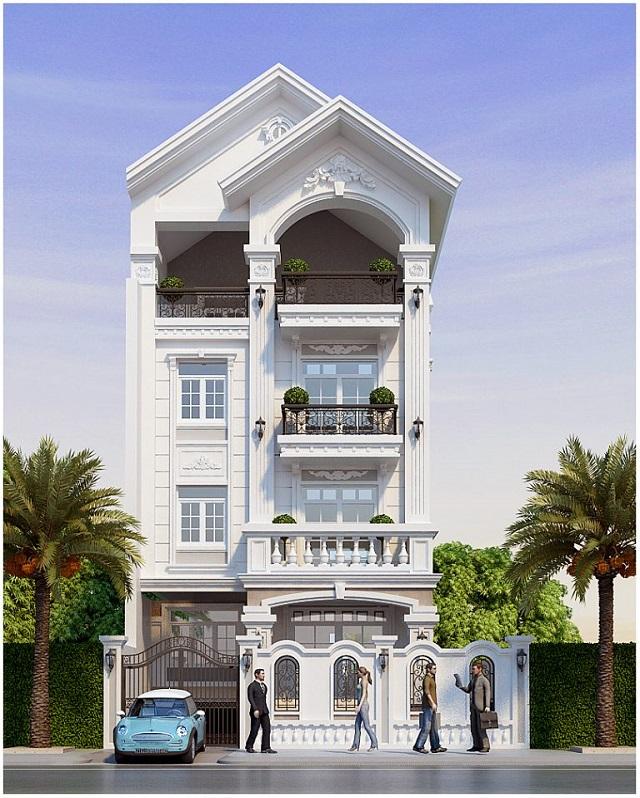 Mẫu biệt thự 4 tầng hiện đại cho những diện tích nhỏ hẹp