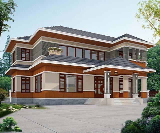Mặt tiền biệt thự 2 tầng sang trọng, chuyên nghiệp tại Bắc Ninh