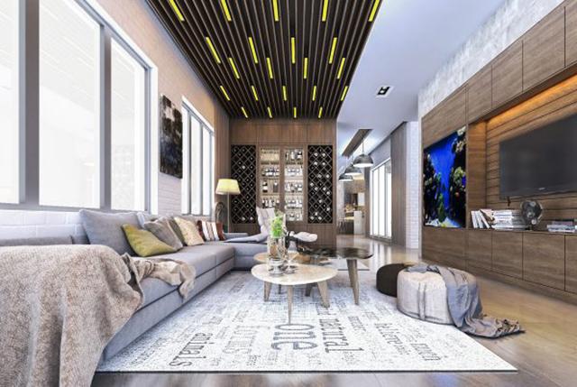 Nội thất nhà biệt thự 18x20m2 tại Hưng Yên