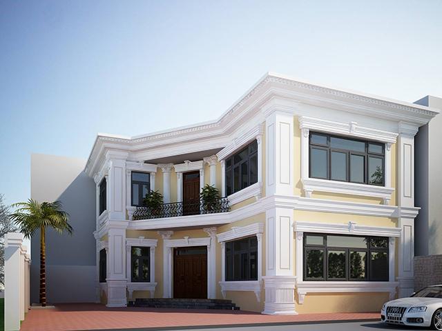 Hình 3D biệt thự 2 tầng chuyên nghiệp tại Hưng Yên