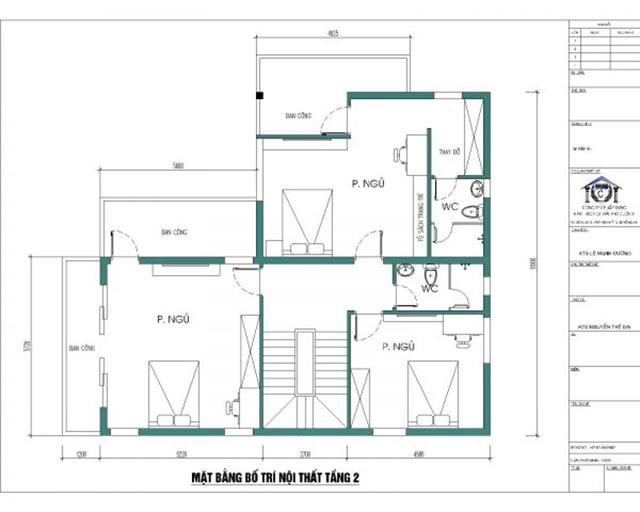 Thiết kế biệt thự tầng 2