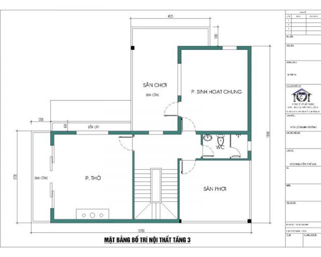 Thiết kế biệt thự tầng 3