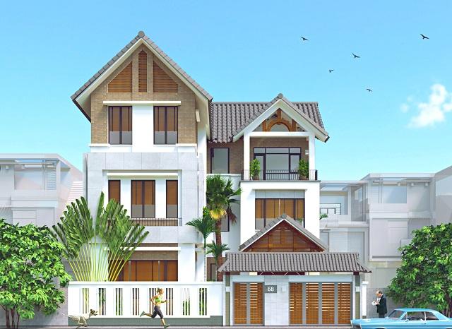 Thiết kế biệt thự mái thái đẹp tại Phú Thọ