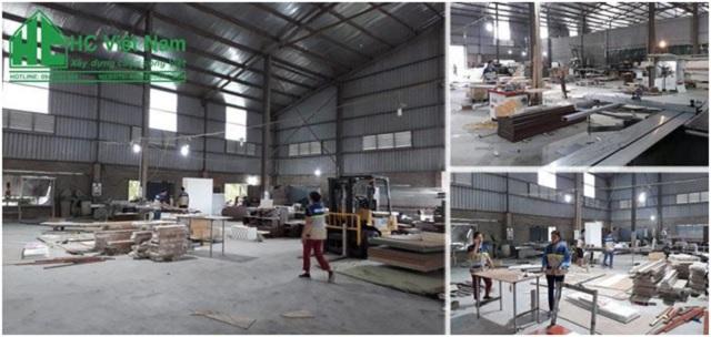 Khu vực sản xuất của công ty cổ phần kiến trúc & nội thất HC Việt Nam