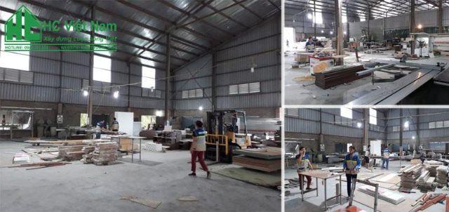 Hình ảnh sản xuất nội thất HC tại xưởng