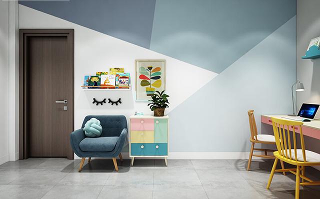 Mẫu Thiết kế nội thất nhà ống 5m x 20m nhà anh Khang - Phòng ngủ cho con