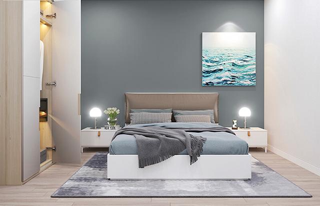 Phòng ngủ còn lại dù không được dùng nhiều, tạm thời chỉ để làm không gian nghỉ ngơi cho khách ghé thăm. Song, nó cũng được đầu tư, thiết kế sao cho thật tiện nghi và hiện đại nhất.