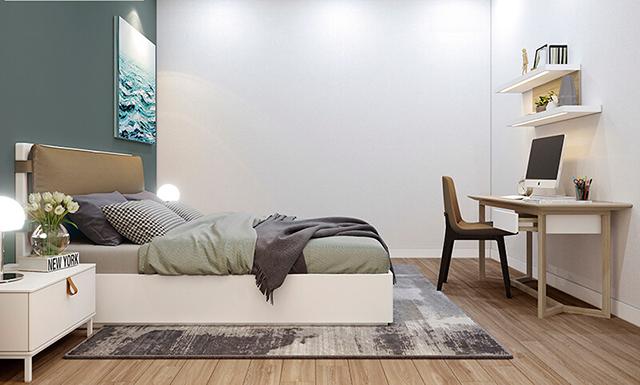 Mẫu Thiết kế nội thất nhà ống 5m x 20m nhà anh Khang - Phòng ngủ cho khách