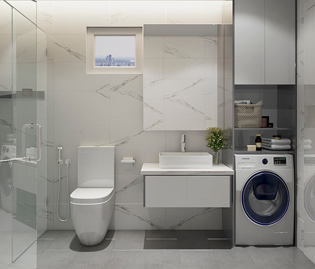 Mẫu Thiết kế nội thất nhà ống 5m x 20m nhà anh Khang - Phòng tắm